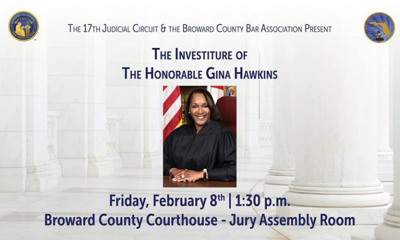 Investiture of the Honorable Gina Hawkins, February 8, 2019