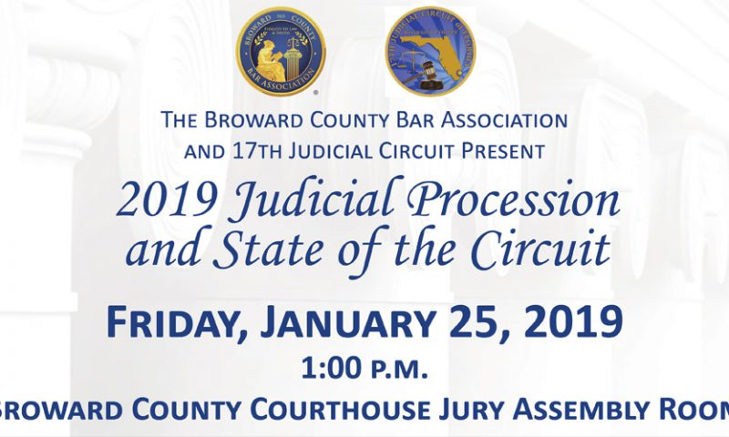 State of the Circuit to be Held Friday, January 25, 2019