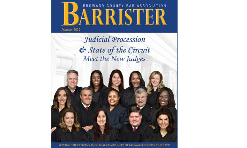 New Judges Featured in The Broward County Bar Association BARRISTER