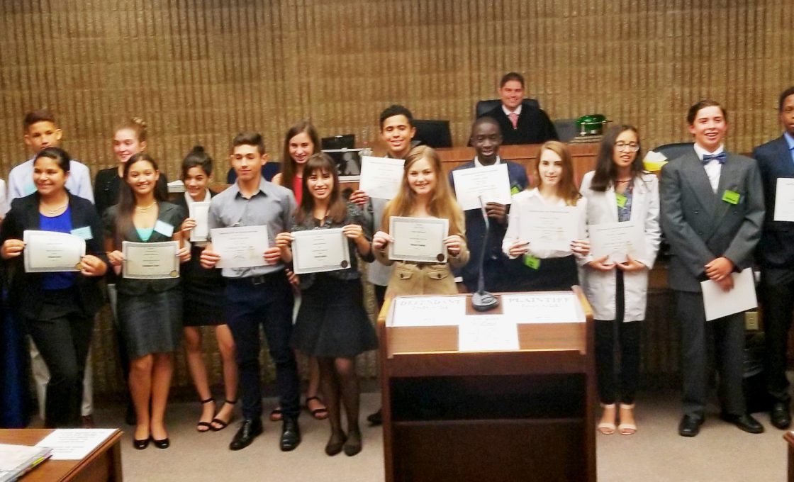 Judge Michael Davis Hosts Mock Trial at South Satellite