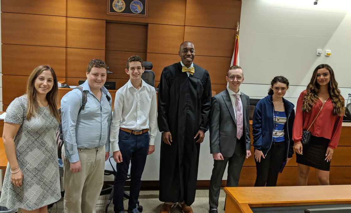 Judge Frink Spends Some Time with Students